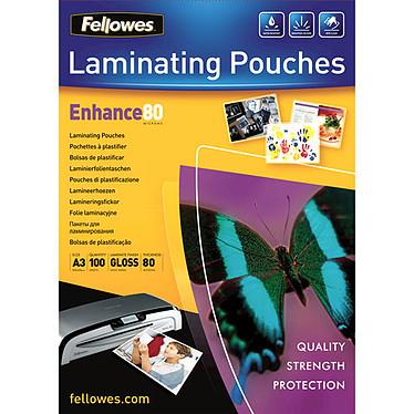 Fellowes Pochettes brillantes A3 80µ x 100