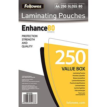 Fellowes Pochettes brillantes A4 80µ x 250