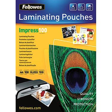 Fellowes Pochettes brillantes A4 100µ x 100 Pochettes de plastification brillantes A4 100 microns