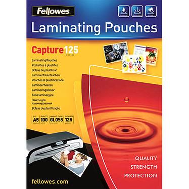 Fellowes Pochettes brillantes A5 125µ x 100 Pochettes de plastification brillantes A5 125 microns