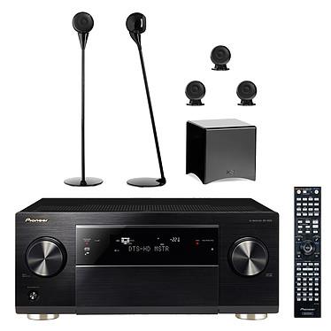 Pioneer SC-1223  Noir  + Cabasse pack Eole 3 5.1 Noir Ampli-tuner Home Cinéma 7.2 DLNA et AirPlay avec 8 entrées HDMI 1.4 + Enceintes Cabasse 5.1 Noires