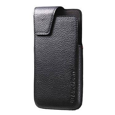 BlackBerry Leather Swivel Holster Noir pour BlackBerry Z30 Etui en cuir avec clip ceinture pour BlackBerry Z30