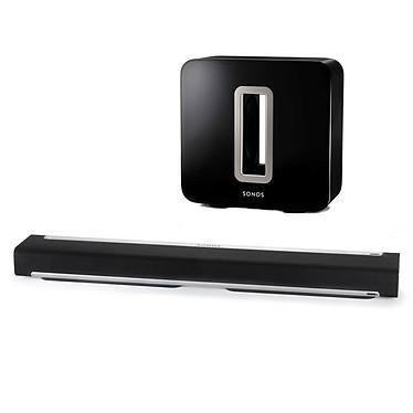 Sonos Playbar + Sonos SUB Barre de son de diffusion audio sans-fil et caisson de basses sans fil amplifié