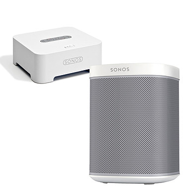 Sonos Play:1 Blanc + Sonos Bridge