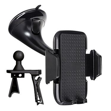 """Xqisit Support voiture Universel Smartphone Noir Support voiture Universel pour Smartphone jusqu'à 5.55"""" fixation pare-brise et grille de ventilation"""