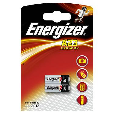 Energizer A23 Alkaline 12V (par 2) Pack de 2 piles alcalines miniatures A23