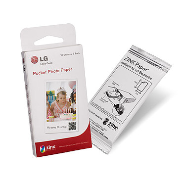 LG PS2203 Papier tout-en-un pour imprimante photo portable Pocket Photo
