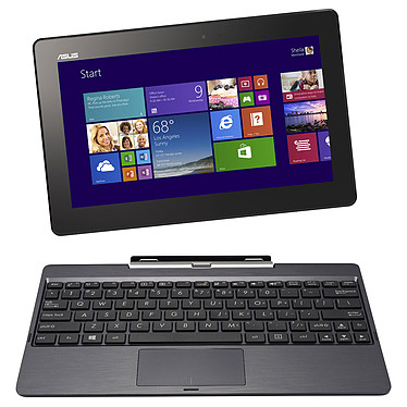 "ASUS Transformer Book T100TA-DK007P avec clavier Tablette Internet - Intel Atom Z3740 2 Go SSD 64 Go + HDD 500 Go 10.1"" LED Tactile Wi-Fi N/Bluetooth Webcam Windows 8.1 Pro 32 bits"