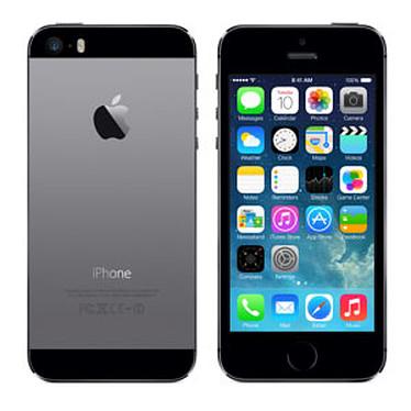 "Apple iPhone 5s 16 Go Gris Sidéral Smartphone 4G-LTE - Apple A7 Dual-Core 1.3 GHz - RAM 1 Go - Ecran Retina 4"" 640 x 1136 - 16 Go - Bluetooth 4.0 - 1560 mAh - iOS 7"