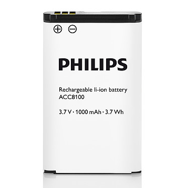 Philips ACC8100  Batterie lithium-ion rechargeable