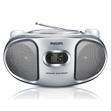 Philips AZ105S Argent  Radio CD avec entrée ligne