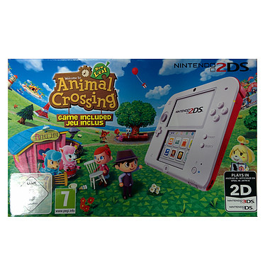 Nintendo 2DS (rouge) + Animal Crossing
