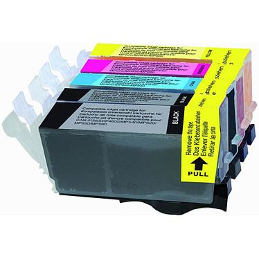 LDLC pack économique compatible Canon PGI-520BK / CLI-521 (BK + C + M + Y) Lot de 5 cartouches compatibles (2 noires + 1 cyan + 1 magenta + 1 jaune)