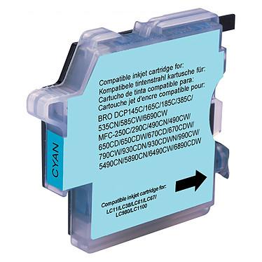 Cartouche compatible LC-980 et LC-1100 (Cyan) Cartouche d'encre cyan compatible Brother LC-980 et LC-1100