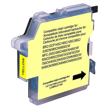 Cartouche compatible LC-980 et LC-1100 (Jaune)