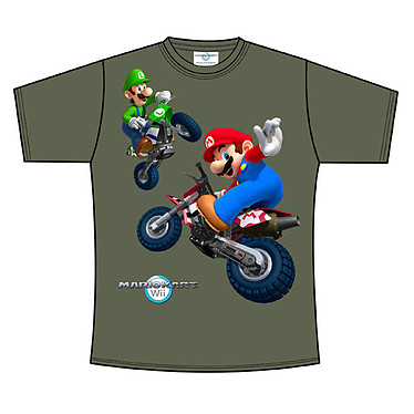 T-Shirt Nintendo Mario Kart Taille M T-Shirt Gris foncé Mario Kart