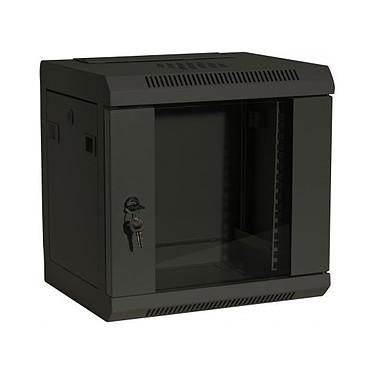 Dexlan coffret réseau - fixe - largeur 10'' - hauteur 6U - profondeur 28 cm - charge utile 10 kg - coloris noir Coffret pour installation réseau - dimensions 370 x 350 x 280 mm - charge utile 10 kg - livré monté