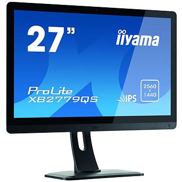 "iiyama 27"" LED - ProLite XB2779QS-1 Noir 2560 x 1440 pixels - 5 ms - Format large 16/9 - Dalle IPS - Pivot - DisplayPort - HDMI - Noir"
