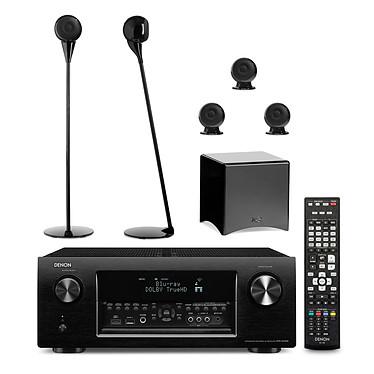 Denon AVR-X4000 Noir + Cabasse pack Eole 3 Noir Ampli-tuner Home Cinema 3D Ready 7.2 DLNA AirPlay avec 7 entrées HDMI + Pack d'enceintes 5.1