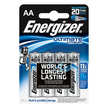 Energizer Ultimate Lithium AA (par 4) Pack de 4 piles AA (LR6) au lithium à très hautes performances
