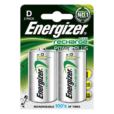 Energizer Accu Recharge Power Plus D 2500 mAh (par 2) 1.5V Pack de 2 piles rechargeables D (HR20) 2500 mAh