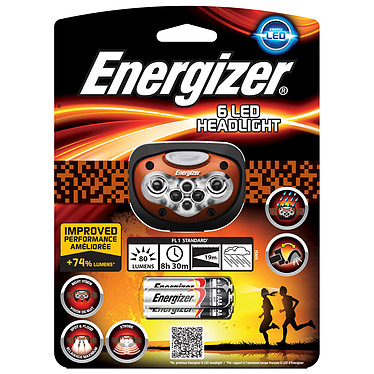 Energizer 6 LED Headlight Lampe torche frontale