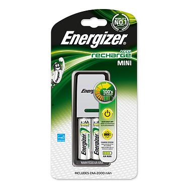 Energizer Accu Recharge Mini Cargador de pilas AA/AAA compacto + 2 pilas AA 2000 mAh