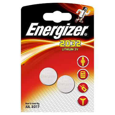 Energizer 2032 Lithium 3V (par 2) Pack de 2 piles boutons CR2032 au lithium