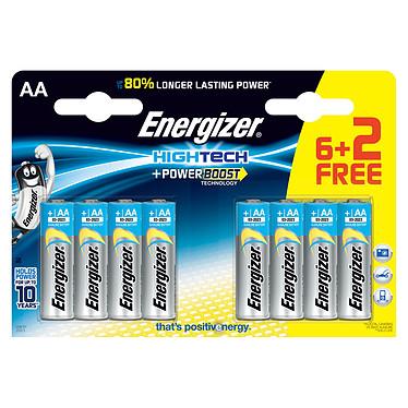 Energizer High Tech 6 piles AA LR06 + 2 gratuites