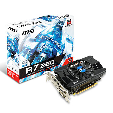MSI Radeon R7 260 1GD5 OC 1 Go Dual DVI/HDMI/DisplayPort - PCI Express (AMD Radeon R7 260)