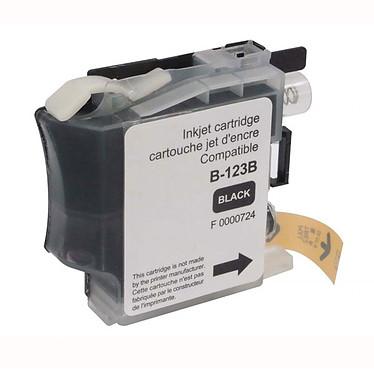 Cartouche compatible LC121/LC123/LC127 (Noir) Cartouche d'encre noire compatible Brother LC121/LC123/LC127