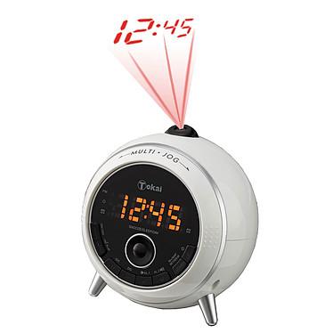 Tokai TCP-137W Blanc  Radio réveil avec projection de l'heure