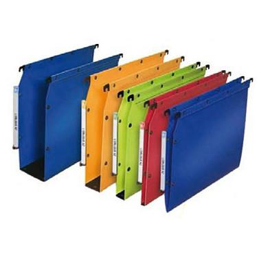 10 Dossiers suspendus fond 30 mm Bleu