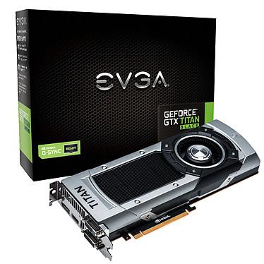 EVGA GeForce GTX TITAN Black 6 Go 6144 Mo Dual DVI/HDMI/DisplayPort - PCI Express (NVIDIA GeForce avec CUDA GTX TITAN Black)