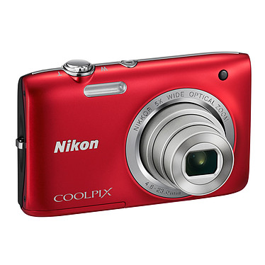 Nikon Coolpix S2800 Rouge Appareil photo 20.1 MP - Zoom grand-angle 5x - Vidéo HD