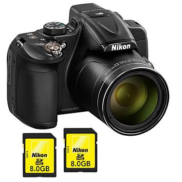 Nikon Coolpix P600 Noir + 2x Nikon Carte SDHC 8 Go