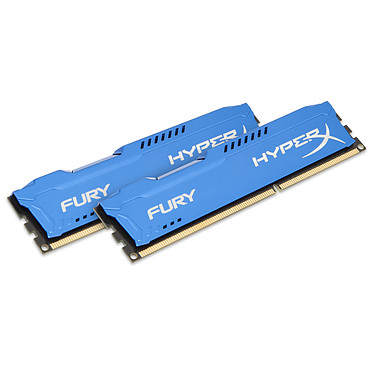 HyperX Fury 8 Go (2x 4Go) DDR3 1600 MHz CL10 Kit Dual Channel RAM DDR3 PC12800 - HX316C10FK2/8