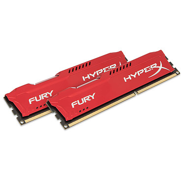 HyperX Fury 8 Go (2x 4Go) DDR3 1600 MHz CL10 Kit Dual Channel RAM DDR3 PC12800 - HX316C10FRK2/8