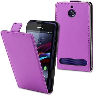 Made for Xperia Etui Slim Violet pour Xperia E1 Etui de protection à clapet pour Sony Xperia E1
