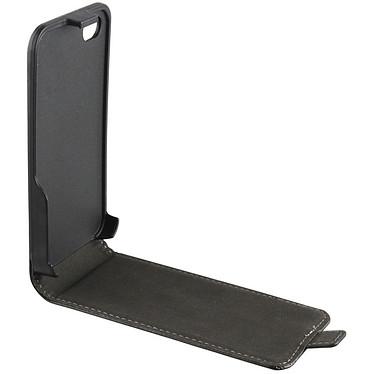 xqisit FlipCover Noir pour iPhone 4/4S Etui de protection à rabat en simili cuir pour Apple iPhone 4/4S