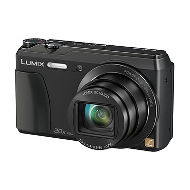 Panasonic DMC-TZ55 Noir Appareil photo 16 MP - Grand angle 24 mm - Zoom 20x - Video Full HD