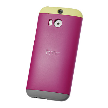 HTC Coque Rigide Double Dip HC C940 Rose/Jaune/Gris HTC One M8 Coque pour HTC One M8