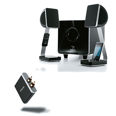 Focal XS + Focal Universal Wireless Receiver - aptX Ensemble 2.1 avec Dock iPod + Récepteur Bluetooth