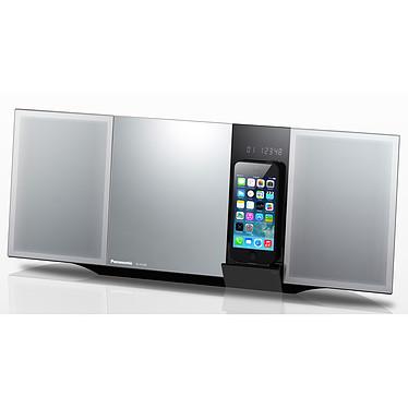 Panasonic SC-HC49EG-S Micro-chaîne CD/MP3 Bluetooth, NFC, avec station d'accueil iPhone/iPod, port USB et entrée auxiliaire