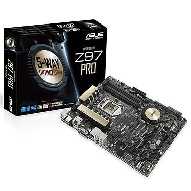 ASUS Z97-PRO Carte mère ATX Socket 1150 Intel Z97 Express - SATA 6Gb/s - USB 3.0 - 2x PCI-Express 3.0 16x + 1x PCI-Express 2.0 16x