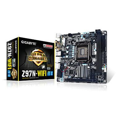Gigabyte GA-Z97N-WIFI Carte mère Mini ITX Socket 1150 Intel Z97 Express - SATA 6Gb/s - USB 3.0 - 1x PCI-Express 3.0 16x - Wi-Fi AC/Bluetooth 4.0