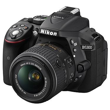"""Nikon D5300 + AF-S DX NIKKOR 18-55mm VR II Réflex Numérique 24.2 MP - Ecran 3.2"""" - Vidéo Full HD + Objectif  AF-S DX NIKKOR 18-55mm f/3.5-5.6G VR II"""