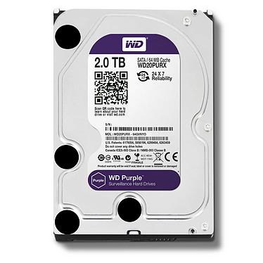 WD Purple Videosurveillance 2 To SATA 6Gb/s pas cher