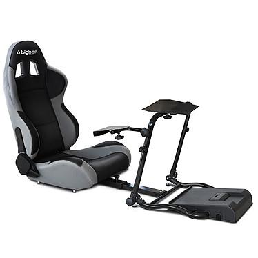 Bigben 120-RS Competition Seat Siège baquet avec supports de volant, pédalier et levier de vitesses pour simulation automobile