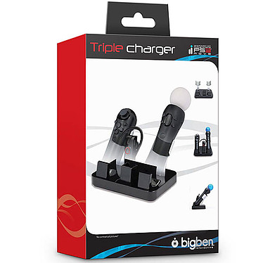 Bigben Triple Charger PS3 Move (PS3) pas cher